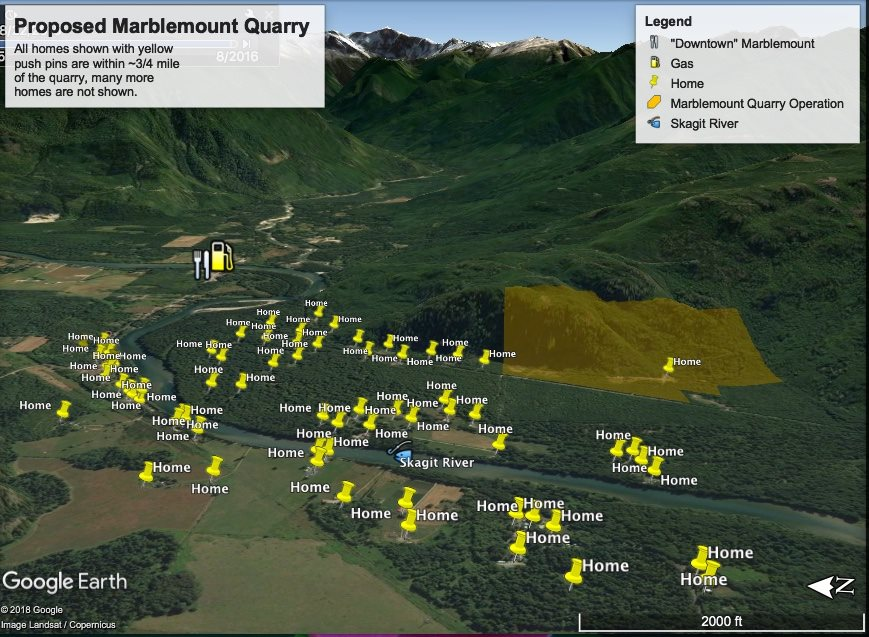 Proposed Marblemount Quarry Mine is Surrounded by Homes